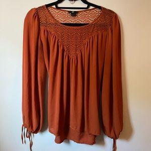 Pumpkin spice fall blouse